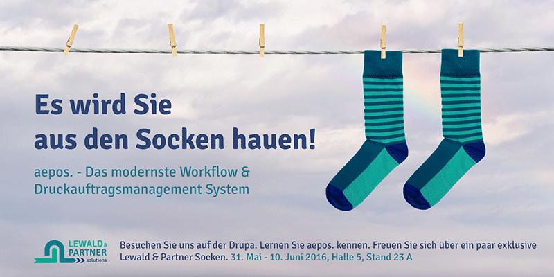 Drupa Workflow Kampagne Es Wird Sie Aus Den Socken Hauen Von